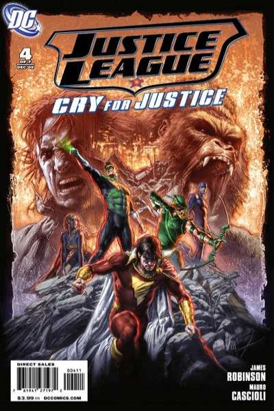 Justice League: Cry for Justice #4 comic books for sale