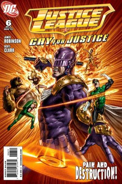 Justice League: Cry for Justice #6 Comic Books - Covers, Scans, Photos  in Justice League: Cry for Justice Comic Books - Covers, Scans, Gallery