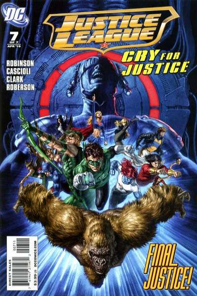Justice League: Cry for Justice #7 comic books - cover scans photos Justice League: Cry for Justice #7 comic books - covers, picture gallery