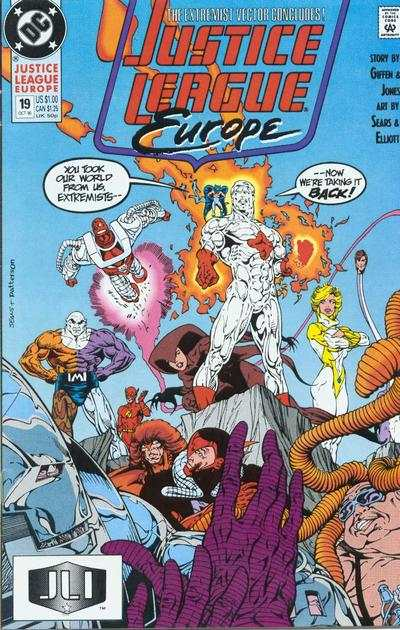 Justice League Europe #19 comic books - cover scans photos Justice League Europe #19 comic books - covers, picture gallery