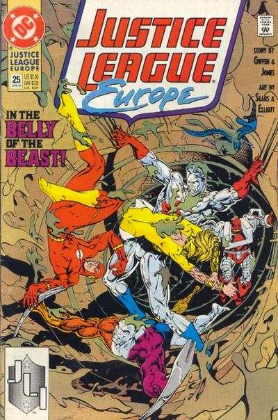 Justice League Europe #25 comic books - cover scans photos Justice League Europe #25 comic books - covers, picture gallery