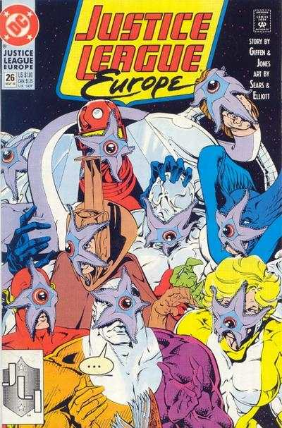 Justice League Europe #26 comic books - cover scans photos Justice League Europe #26 comic books - covers, picture gallery