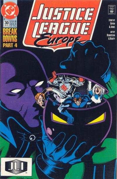 Justice League Europe #30 comic books - cover scans photos Justice League Europe #30 comic books - covers, picture gallery