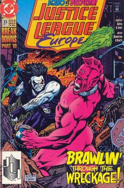 Justice League Europe #33 comic books for sale