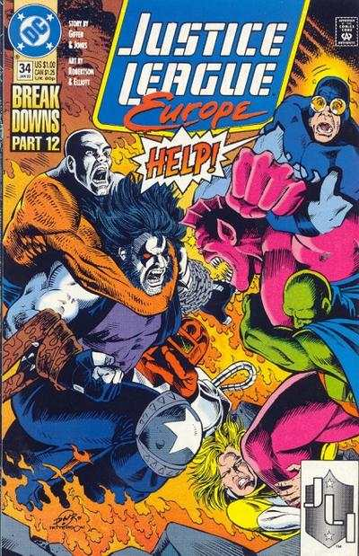 Justice League Europe #34 Comic Books - Covers, Scans, Photos  in Justice League Europe Comic Books - Covers, Scans, Gallery