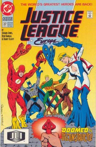 Justice League Europe #37 comic books - cover scans photos Justice League Europe #37 comic books - covers, picture gallery