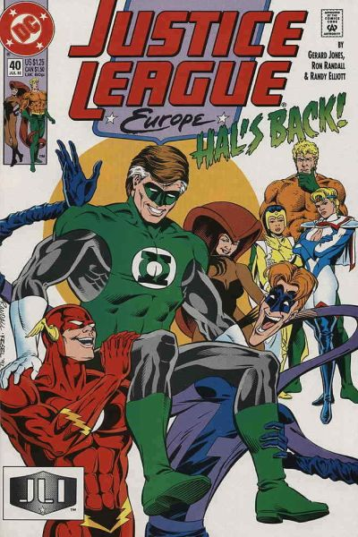 Justice League Europe #40 comic books - cover scans photos Justice League Europe #40 comic books - covers, picture gallery