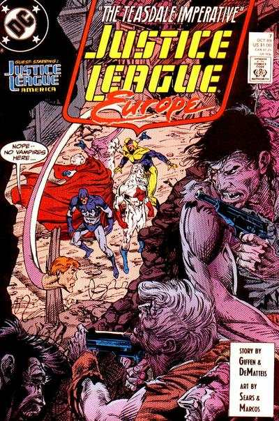 Justice League Europe #7 comic books - cover scans photos Justice League Europe #7 comic books - covers, picture gallery