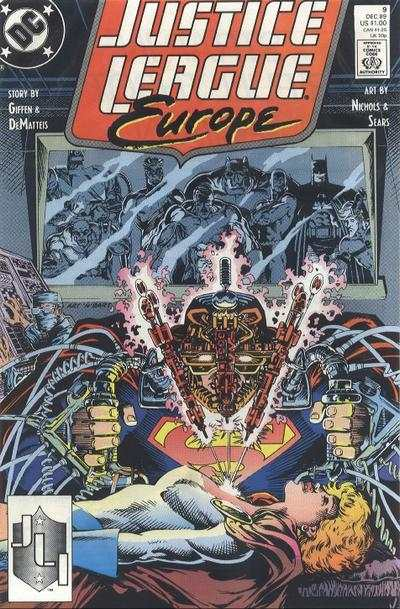 Justice League Europe #9 Comic Books - Covers, Scans, Photos  in Justice League Europe Comic Books - Covers, Scans, Gallery