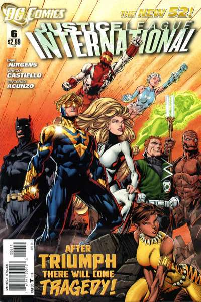 Justice League International #6 comic books - cover scans photos Justice League International #6 comic books - covers, picture gallery