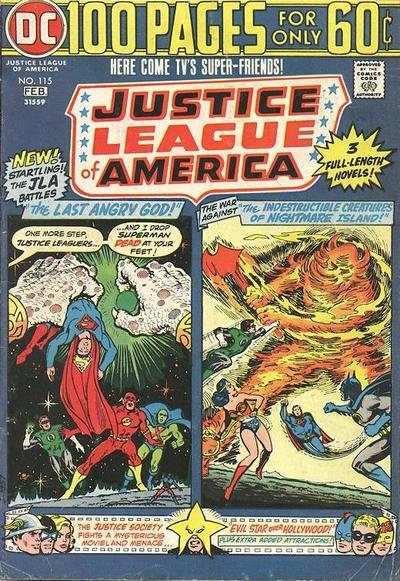 Justice League of America #115 comic books - cover scans photos Justice League of America #115 comic books - covers, picture gallery
