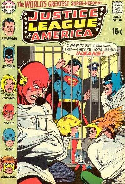 Justice League of America #81 comic books for sale