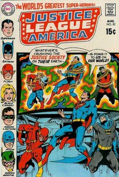 Justice League of America #82 comic books - cover scans photos Justice League of America #82 comic books - covers, picture gallery