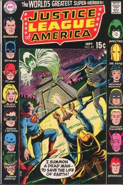 Justice League of America #83 comic books - cover scans photos Justice League of America #83 comic books - covers, picture gallery