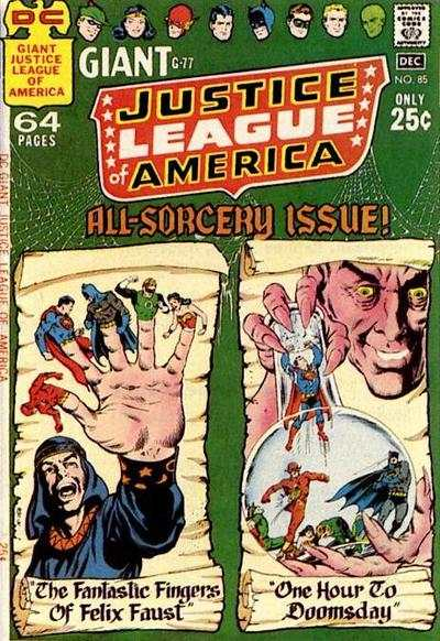 Justice League of America #85 comic books - cover scans photos Justice League of America #85 comic books - covers, picture gallery