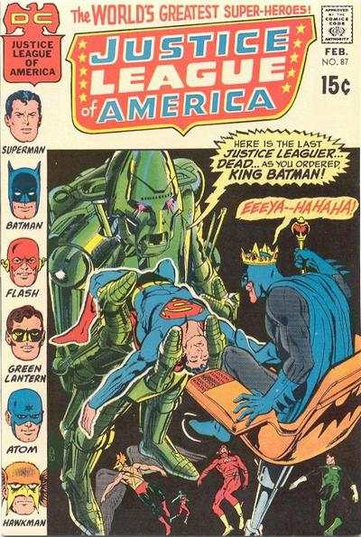 Justice League of America #87 comic books - cover scans photos Justice League of America #87 comic books - covers, picture gallery