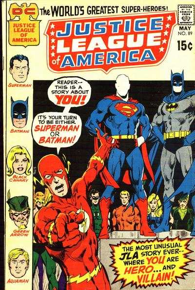 Justice League of America #89 comic books - cover scans photos Justice League of America #89 comic books - covers, picture gallery