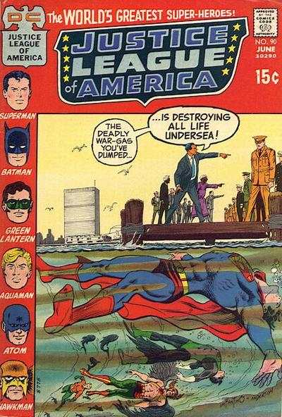 Justice League of America #90 comic books - cover scans photos Justice League of America #90 comic books - covers, picture gallery