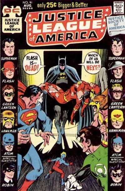 Justice League of America #91 comic books - cover scans photos Justice League of America #91 comic books - covers, picture gallery