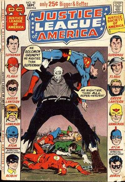 Justice League of America #92 comic books for sale