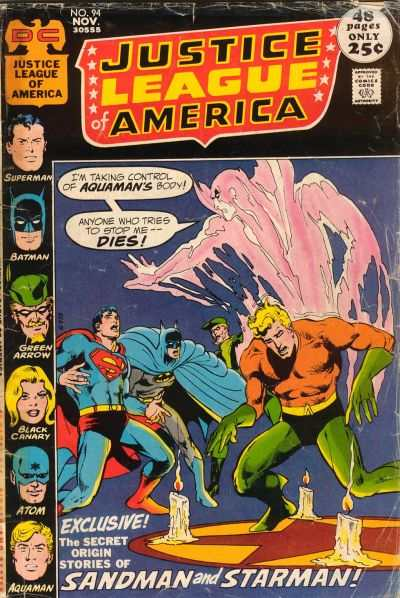 Justice League of America #94 comic books - cover scans photos Justice League of America #94 comic books - covers, picture gallery