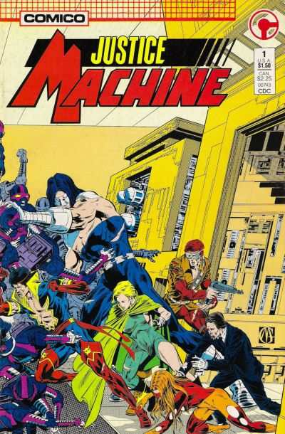 Justice Machine comic books