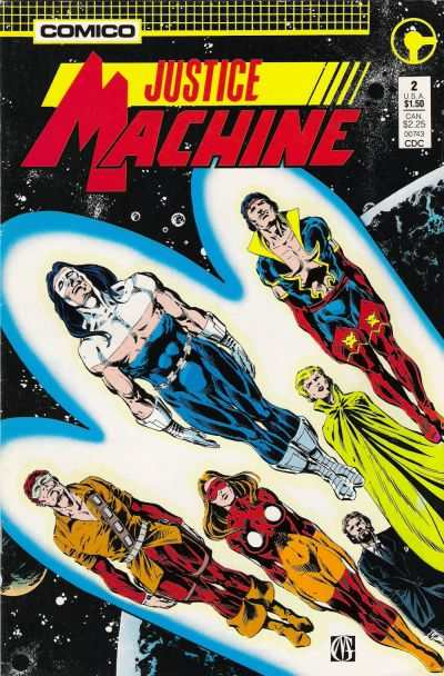 Justice Machine #2 Comic Books - Covers, Scans, Photos  in Justice Machine Comic Books - Covers, Scans, Gallery