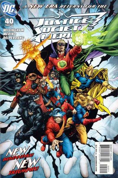 Justice Society of America #40 comic books - cover scans photos Justice Society of America #40 comic books - covers, picture gallery