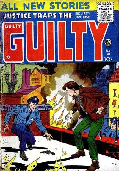 Justice Traps the Guilty #90 comic books - cover scans photos Justice Traps the Guilty #90 comic books - covers, picture gallery