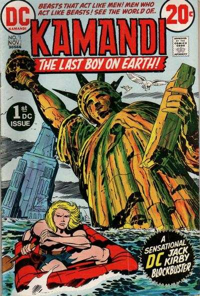 Kamandi: The Last Boy on Earth #1 comic books - cover scans photos Kamandi: The Last Boy on Earth #1 comic books - covers, picture gallery