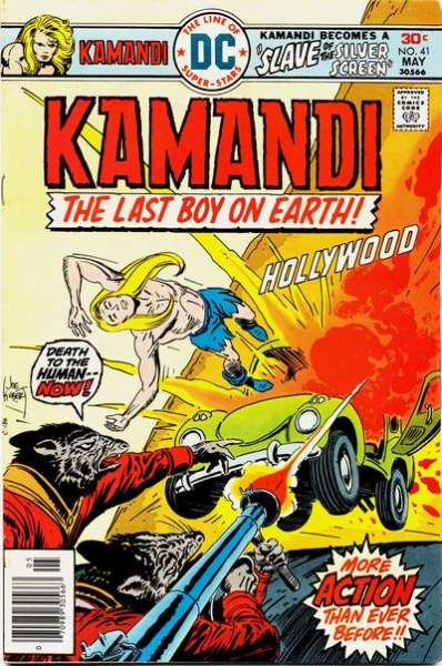Kamandi: The Last Boy on Earth #41 comic books - cover scans photos Kamandi: The Last Boy on Earth #41 comic books - covers, picture gallery