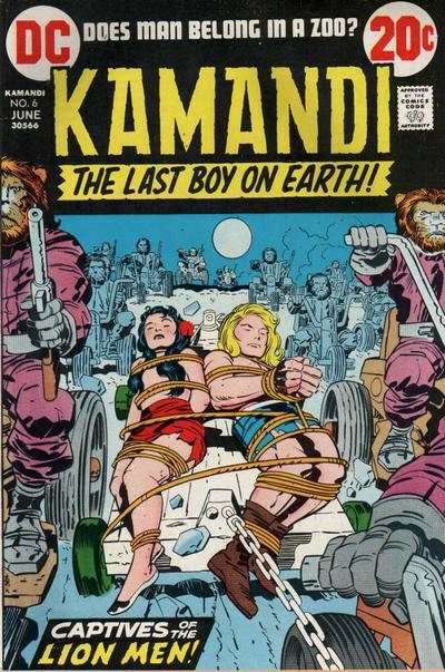 Kamandi: The Last Boy on Earth #6 comic books - cover scans photos Kamandi: The Last Boy on Earth #6 comic books - covers, picture gallery
