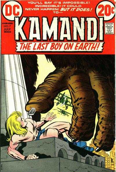 Kamandi: The Last Boy on Earth #7 comic books - cover scans photos Kamandi: The Last Boy on Earth #7 comic books - covers, picture gallery