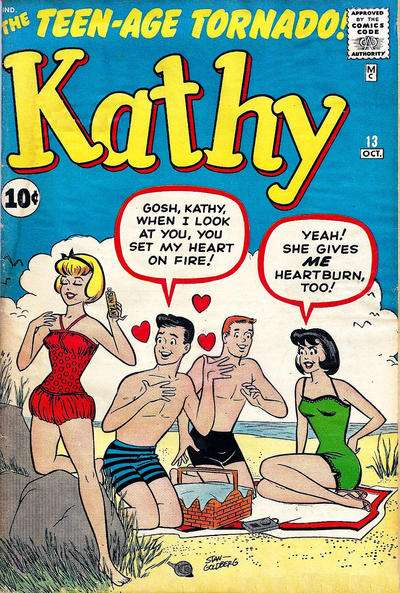 Kathy #13 comic books for sale