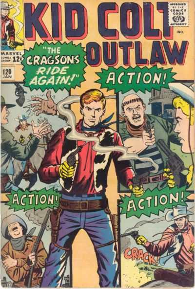 Kid Colt Outlaw #120 comic books - cover scans photos Kid Colt Outlaw #120 comic books - covers, picture gallery