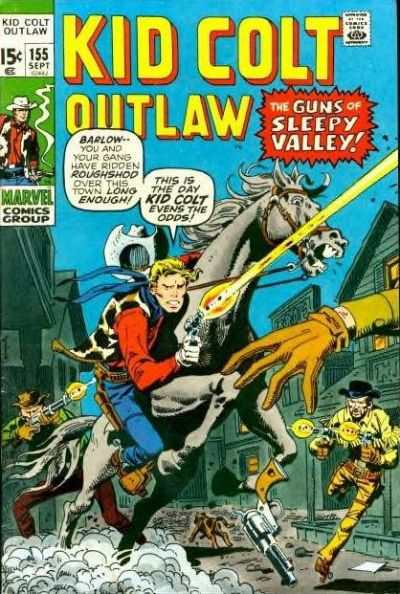 Kid Colt Outlaw #155 comic books - cover scans photos Kid Colt Outlaw #155 comic books - covers, picture gallery