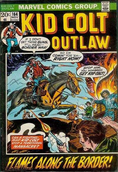 Kid Colt Outlaw #164 comic books - cover scans photos Kid Colt Outlaw #164 comic books - covers, picture gallery