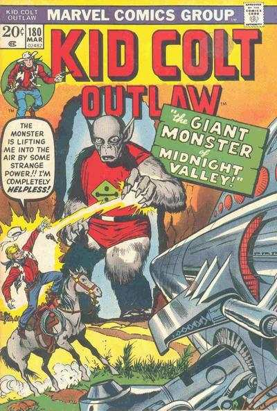 Kid Colt Outlaw #180 comic books - cover scans photos Kid Colt Outlaw #180 comic books - covers, picture gallery