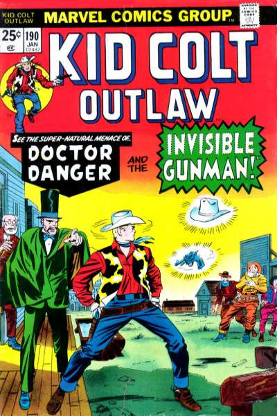 Kid Colt Outlaw #190 Comic Books - Covers, Scans, Photos  in Kid Colt Outlaw Comic Books - Covers, Scans, Gallery
