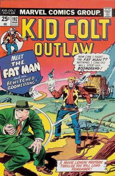 Kid Colt Outlaw #192 comic books - cover scans photos Kid Colt Outlaw #192 comic books - covers, picture gallery