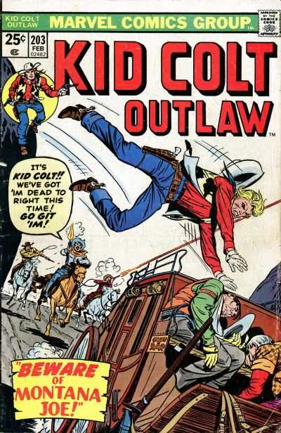 Kid Colt Outlaw #203 comic books - cover scans photos Kid Colt Outlaw #203 comic books - covers, picture gallery
