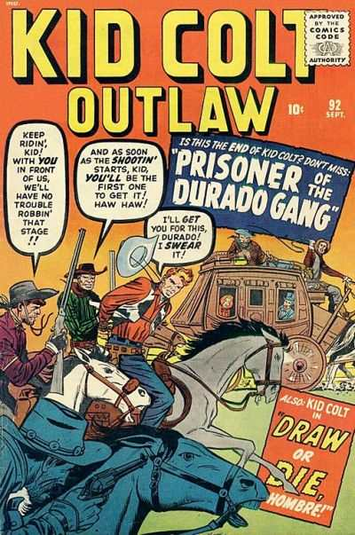 Kid Colt Outlaw #92 Comic Books - Covers, Scans, Photos  in Kid Colt Outlaw Comic Books - Covers, Scans, Gallery