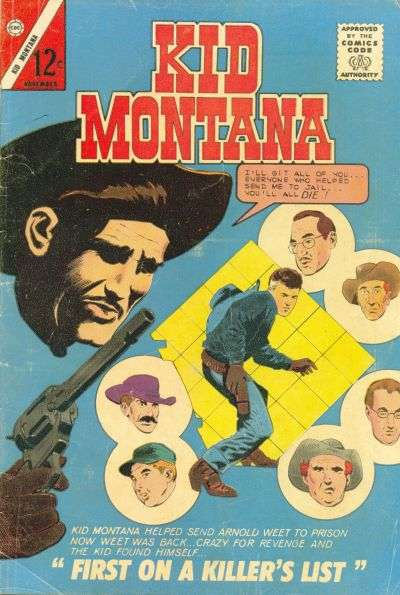 Kid Montana #43 comic books - cover scans photos Kid Montana #43 comic books - covers, picture gallery