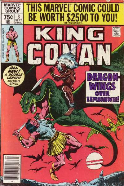 King Conan #3 comic books for sale