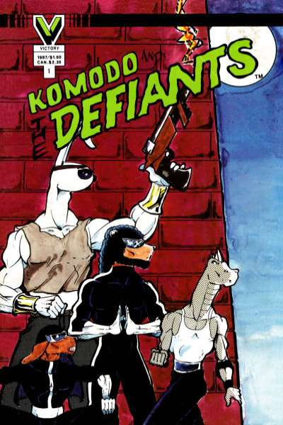 Komodo and the Defiants comic books