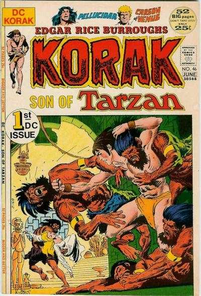 Korak: Son of Tarzan #46 comic books - cover scans photos Korak: Son of Tarzan #46 comic books - covers, picture gallery