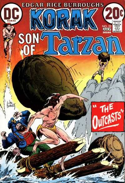 Korak: Son of Tarzan #52 comic books - cover scans photos Korak: Son of Tarzan #52 comic books - covers, picture gallery
