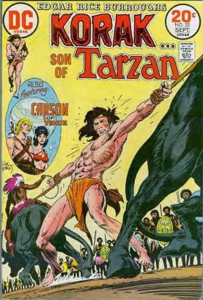 Korak: Son of Tarzan #53 comic books - cover scans photos Korak: Son of Tarzan #53 comic books - covers, picture gallery