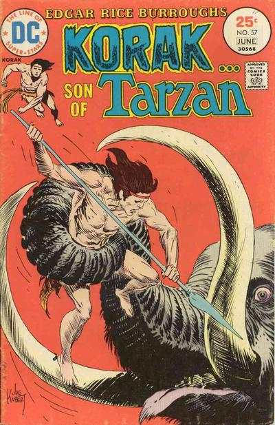 Korak: Son of Tarzan #57 Comic Books - Covers, Scans, Photos  in Korak: Son of Tarzan Comic Books - Covers, Scans, Gallery