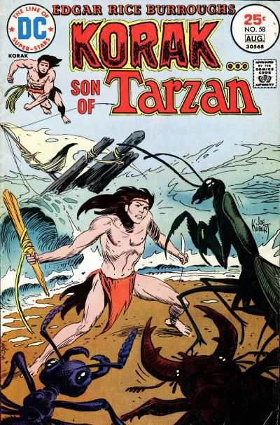 Korak: Son of Tarzan #58 comic books - cover scans photos Korak: Son of Tarzan #58 comic books - covers, picture gallery